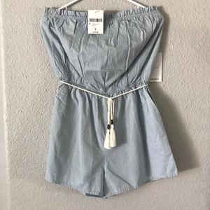 women's jean/light blue jumpsuit